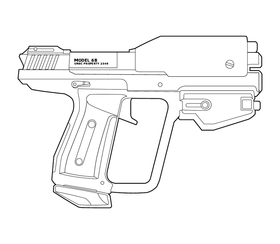 Halo M6G B Type Lineart by MasterChiefFox Halo Weapons Info