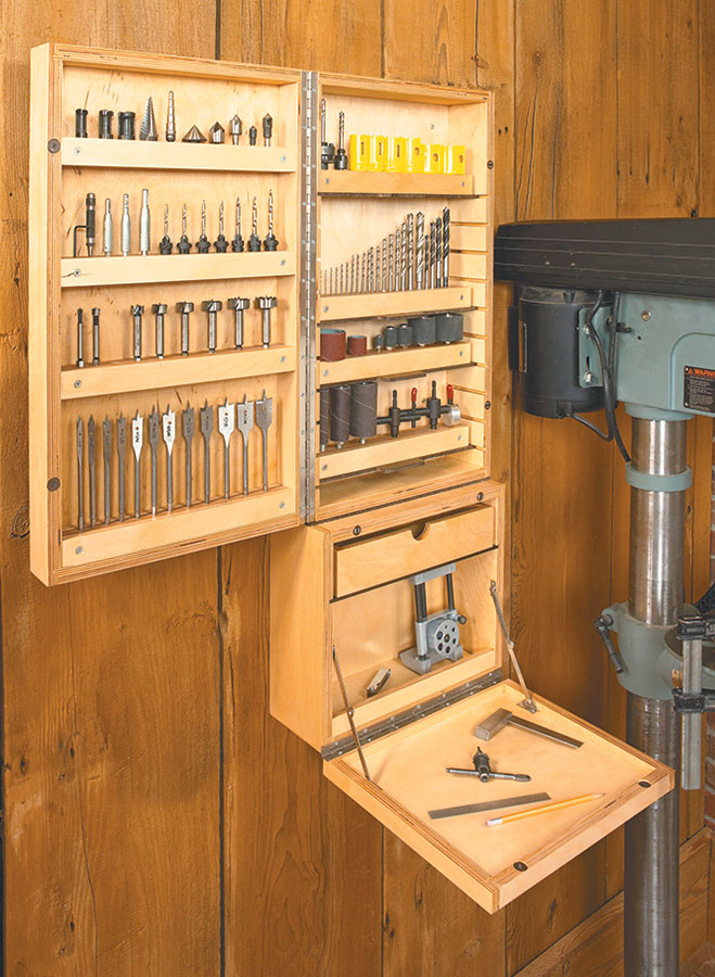 Photo of Drill Press Accessory Cabinet | Woodworking Project | Woodsmith Plans –  – #Acce…