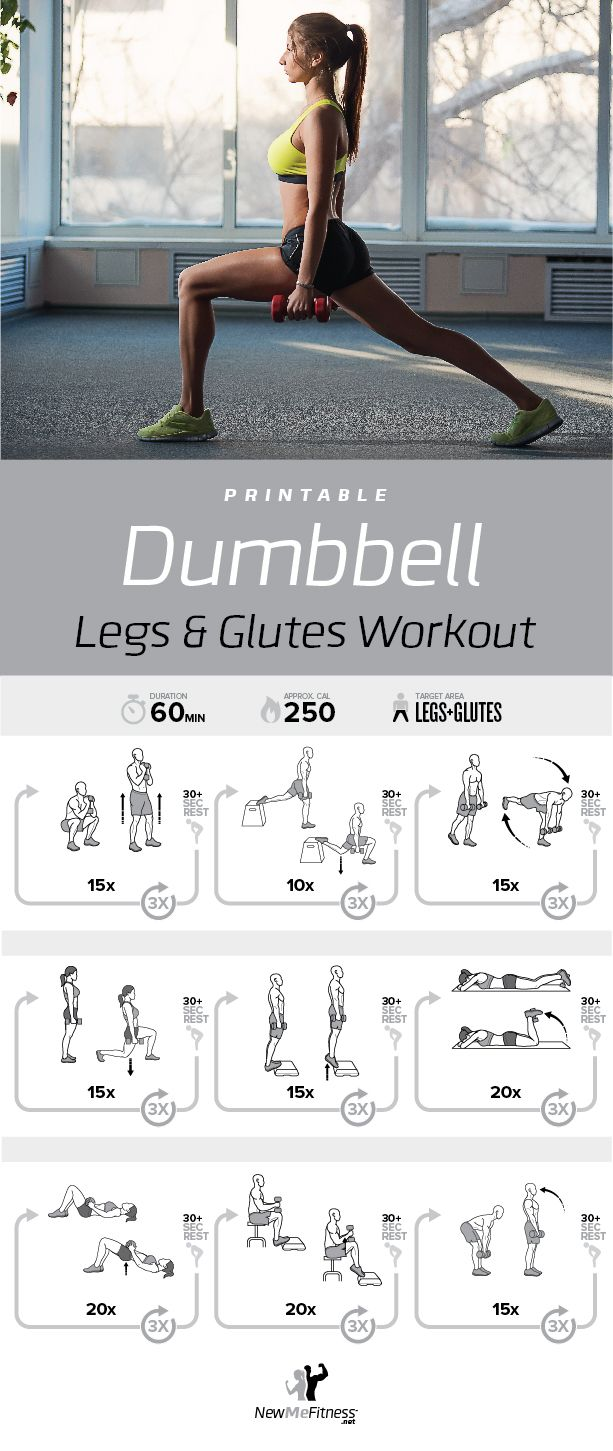 Dumbbell Legs and Glutes Workout | Posted by: CustomWeightLossTips.com |  Glutes workout, Workout routine, Fitness body