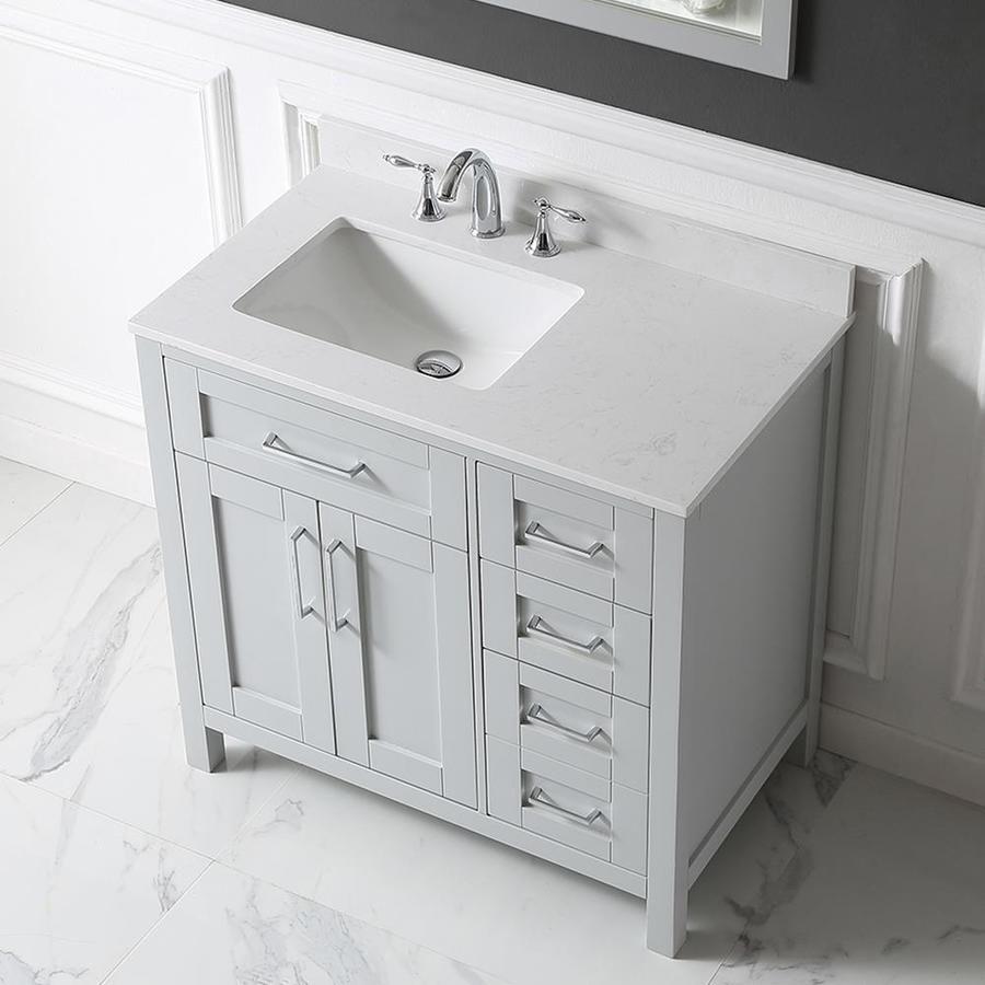Ove Decors Tahoe Dove Gray Undermount Single Sink Bathroom Vanity
