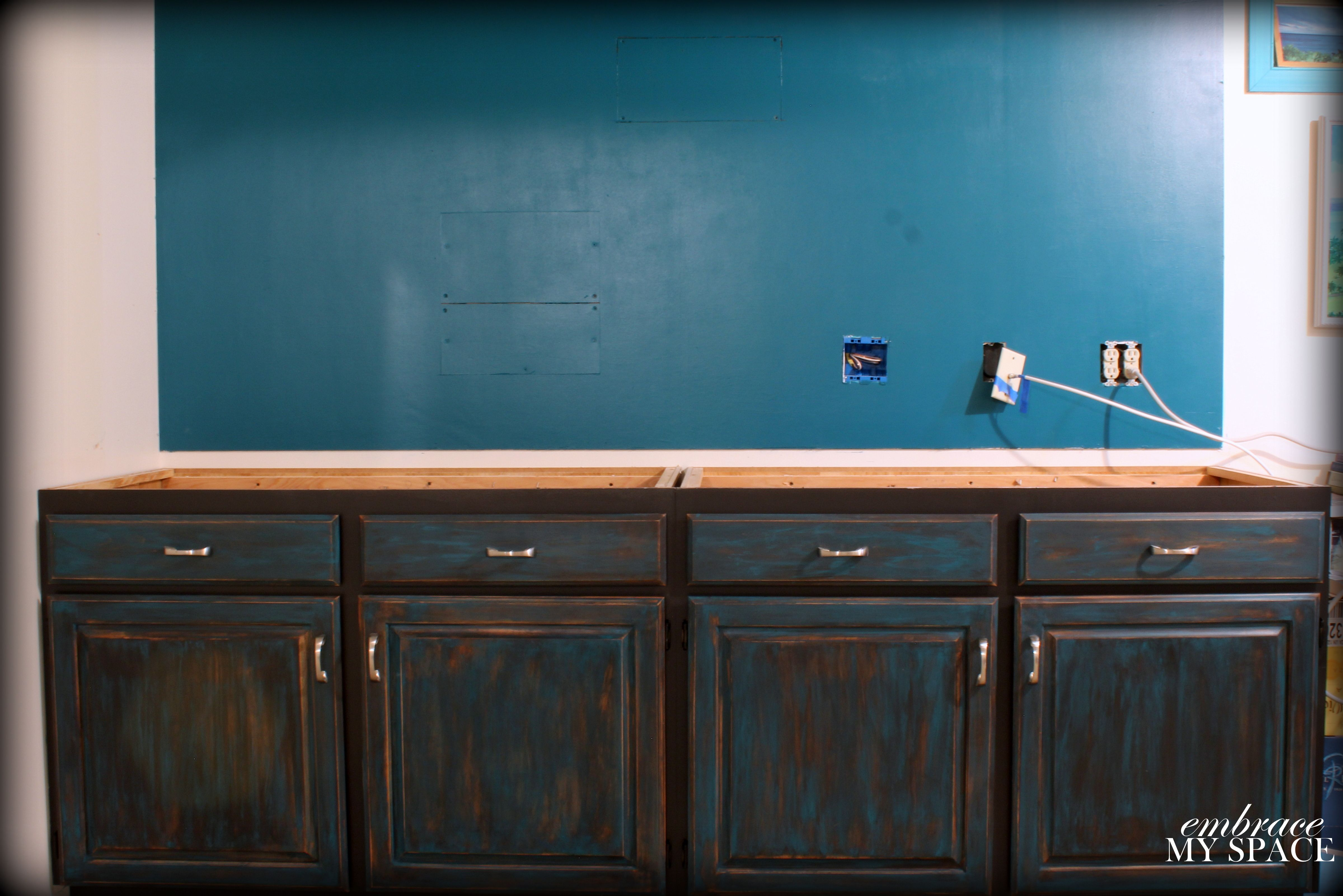 Distressed Teal Cabinets and Drawers #distressingfurniture #teal ...