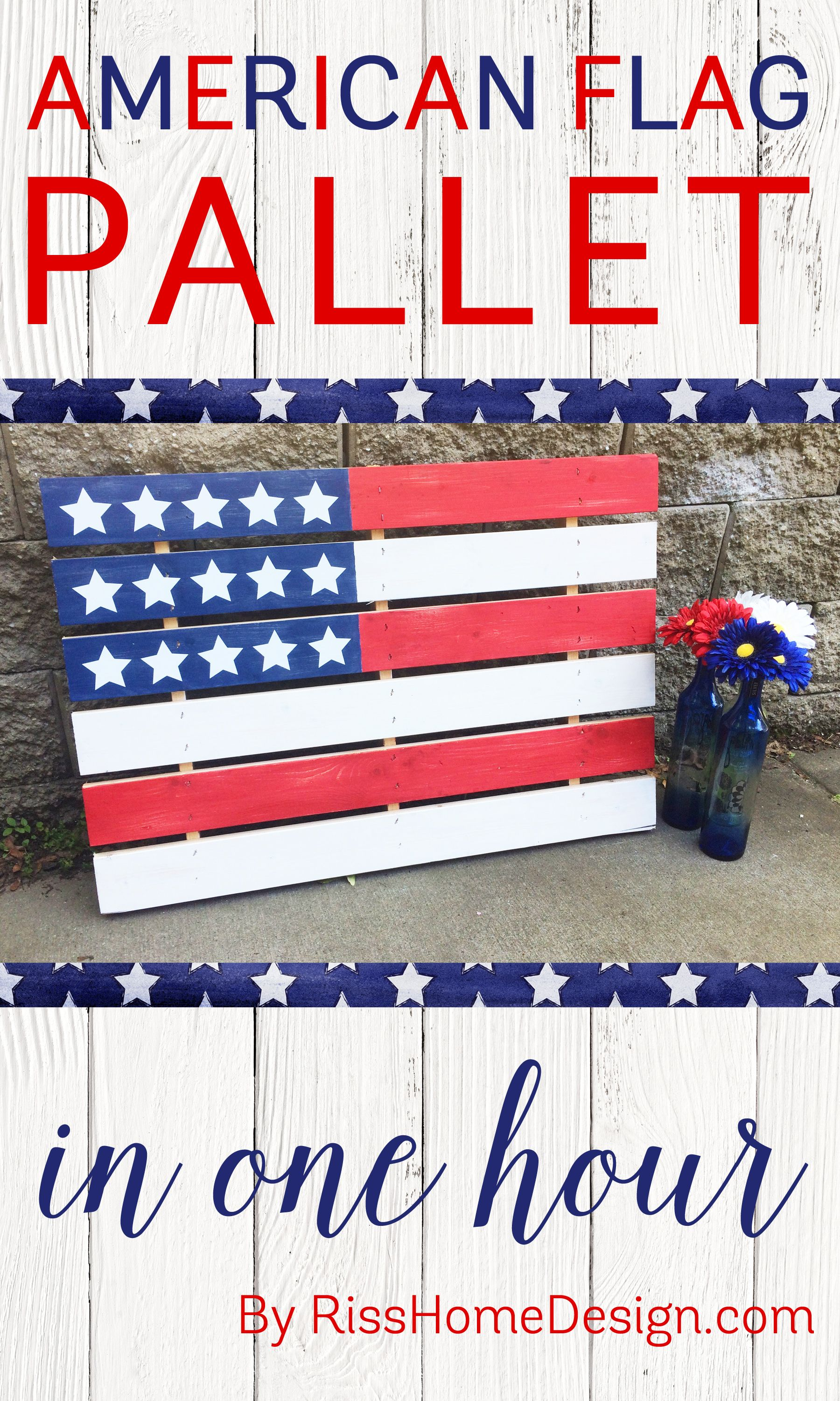 diy your own american flag pallet in under an hour