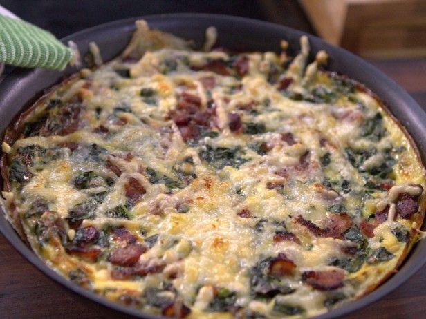 Kale and Bacon Frittata #baconfrittata