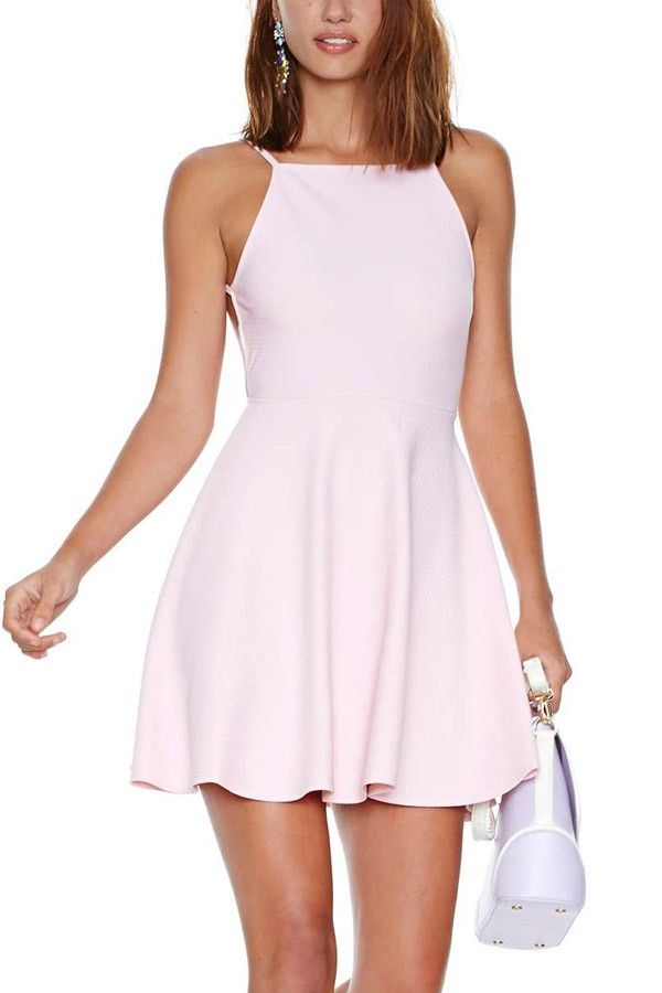 f2f44cb5945e Skater dresses are definitely trending in this season! This piece features  a boat neck