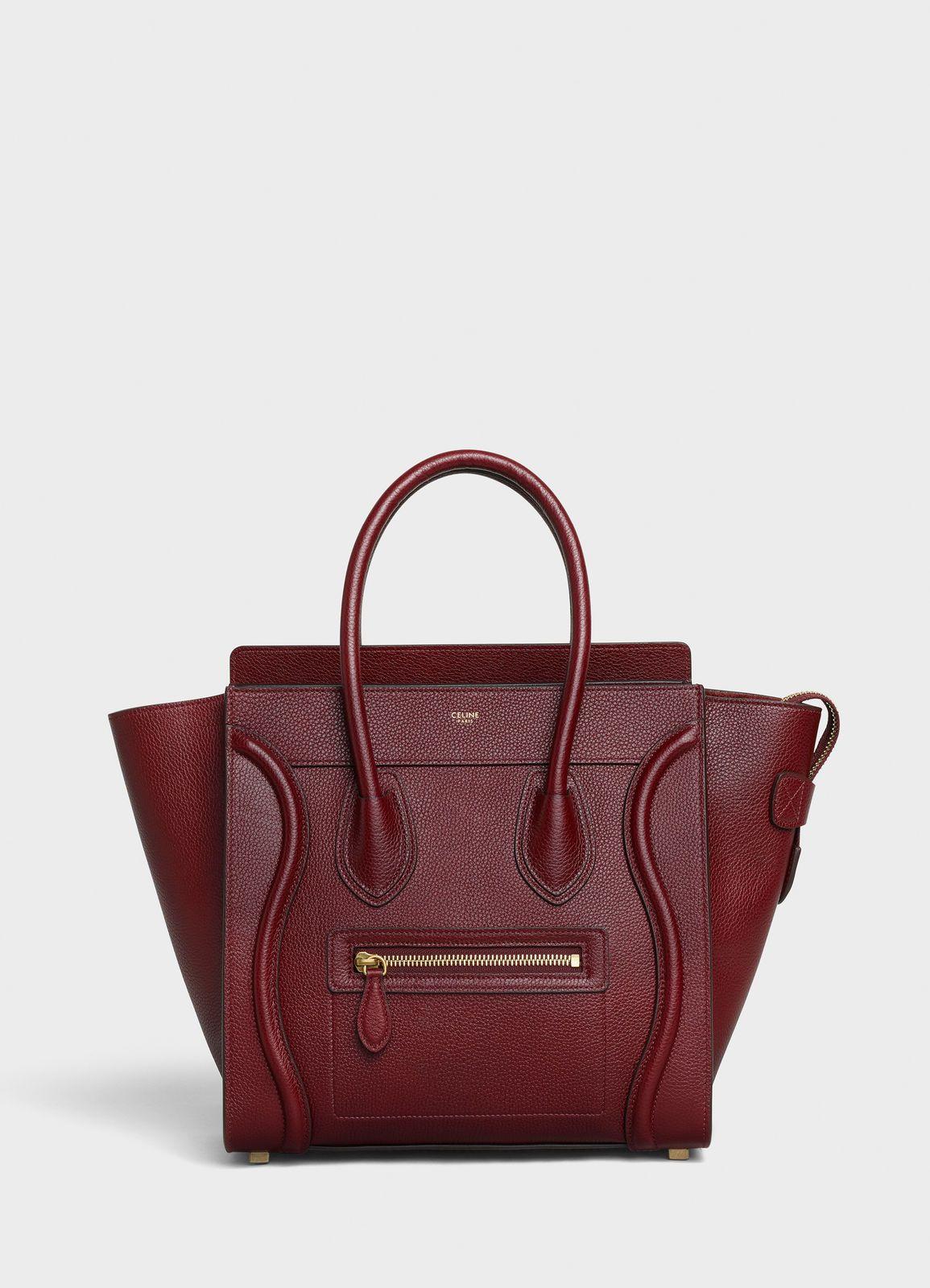 f3c86c6005f83 Micro Luggage handbag in drummed calfskin