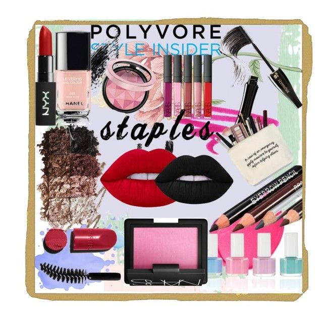 """""""Makeup Bag"""" by ariel-r-kent on Polyvore featuring beauty, NARS Cosmetics, Anastasia Beverly Hills, LORAC, Lancôme, Lime Crime, Topshop, Chanel, contestentry and PVStyleInsiderContest"""