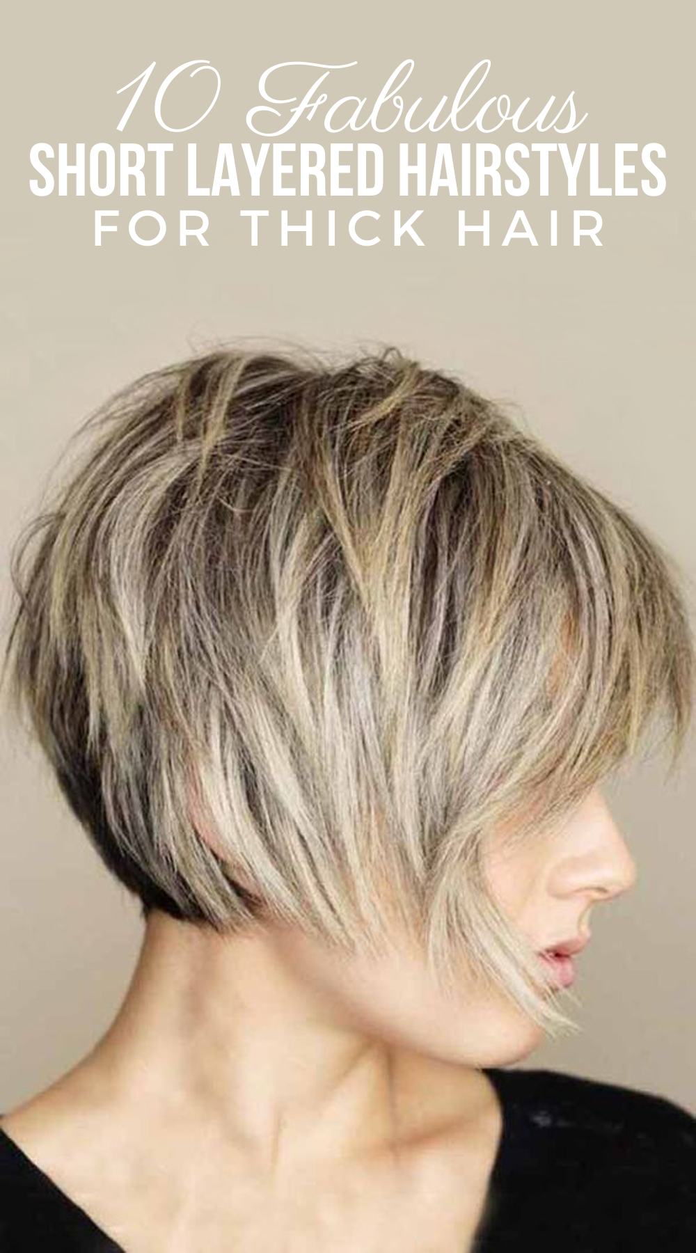 10 Cutest Short Layered Hairstyles For Your Thick Hair You Should Apply Thick Hair Styles Short Hair With Layers Bobs For Thin Hair