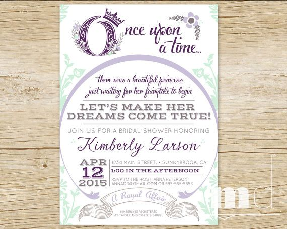 once upon a time bridal shower invitation fairytale bridal shower invite storybook wedding shower