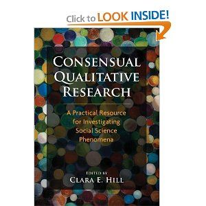 Consensual Qualitative Research A Practical Resource For Investigating Social Science P Dissertation Writing American Psychological Association Implication Part Of