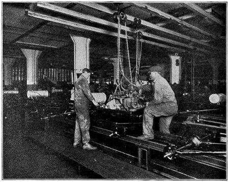 Installing Motor on Final Assembly Line