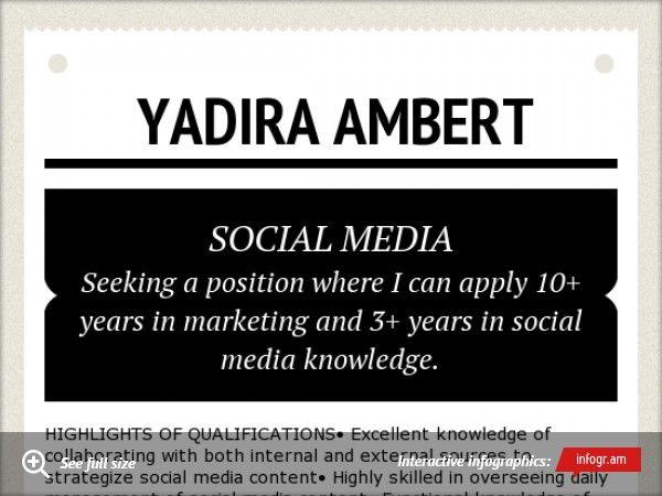 Social Media Resume Social Media Pinterest - social media resume