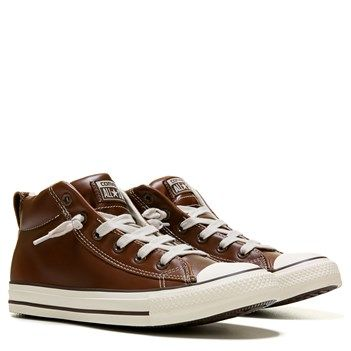 Converse Men\u0027s Chuck Taylor All Star Street Mid Top Leather Sneaker at  Famous Footwear