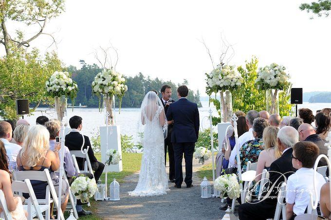 Wedding ceremony at J.W. Marriott Muskoka,   Photo credit- @Ever Images
