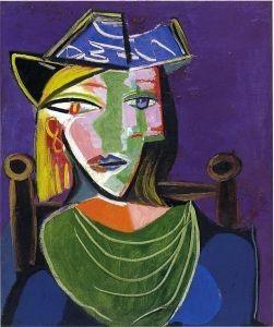 Pablo Picasso, Portrait de femme au col vert (Marie-Thérèse Walter ...