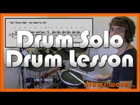 """Aja"" Free Video Drum Solo Lesson (Expanding Gadd's Drum Licks) | DrumsTheWord.com"