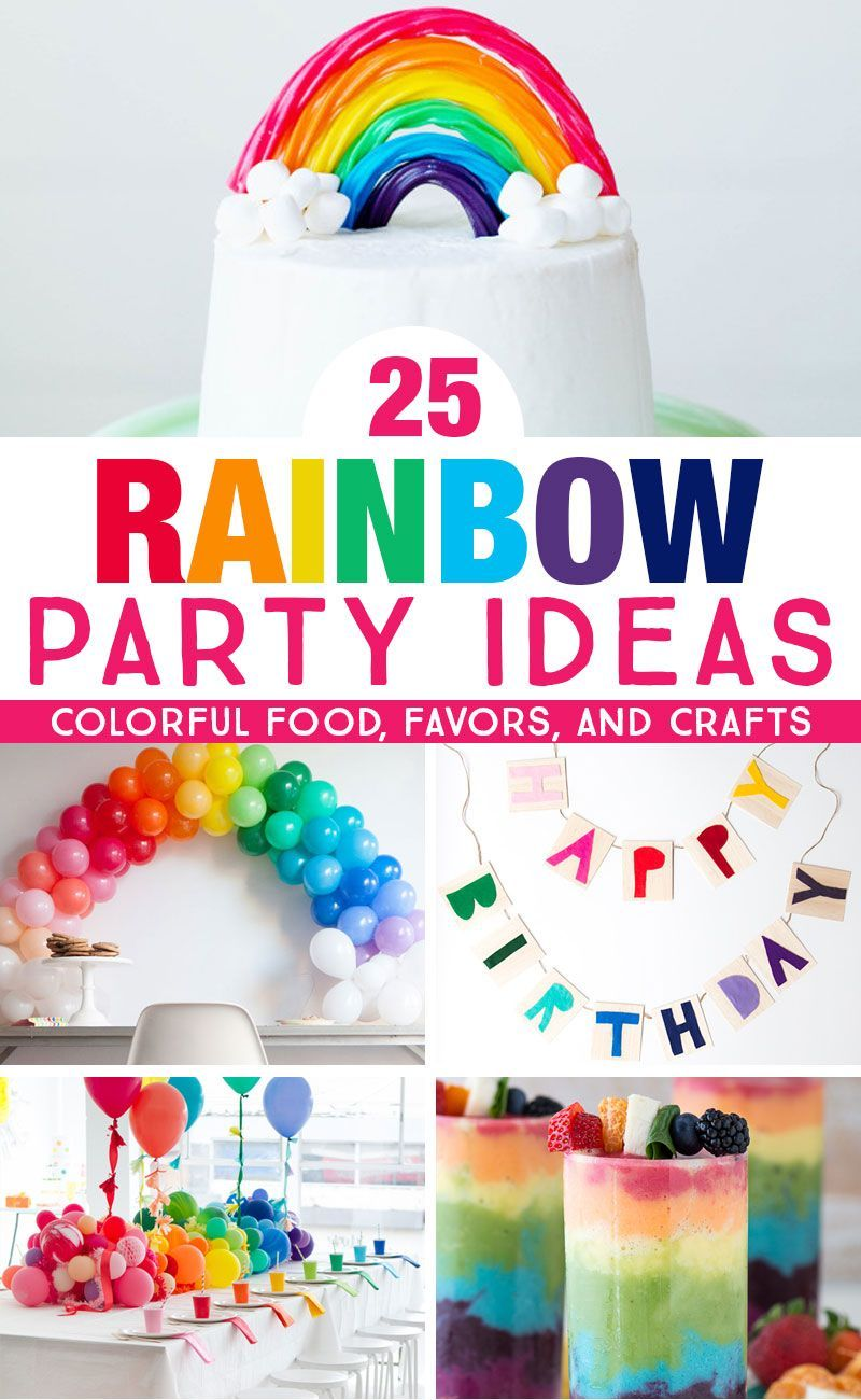 Get colorful rainbow party ideas that are perfect for kids