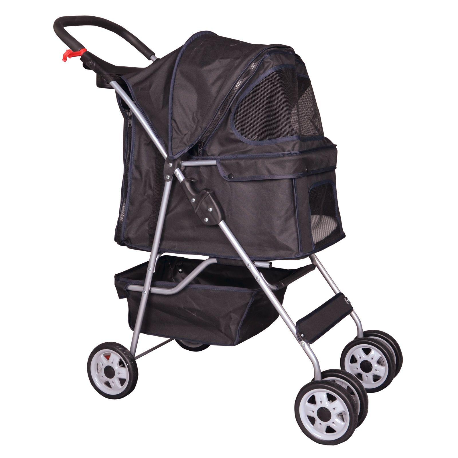 Strollers wheels pet stroller cat dog cage stroller travel