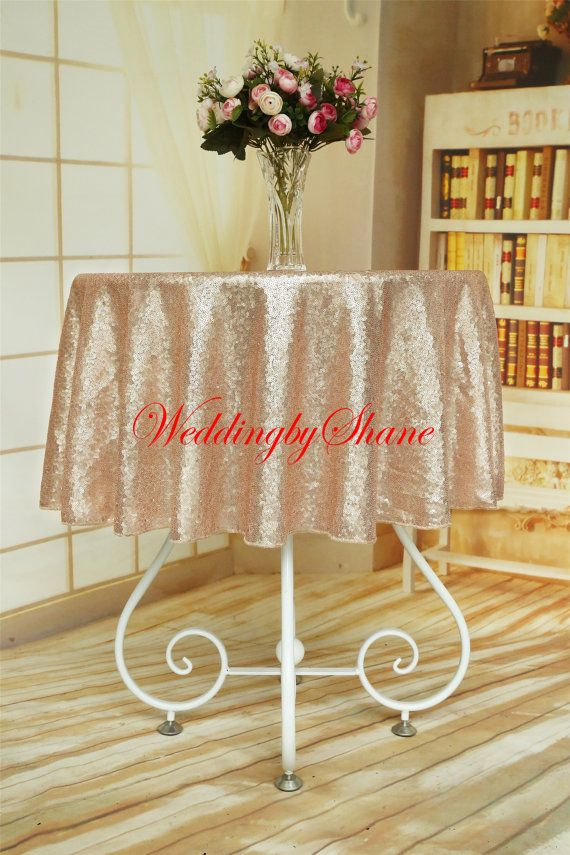 50 Round Champagne Round Tablecloth Tablecloth By WeddingbyShane