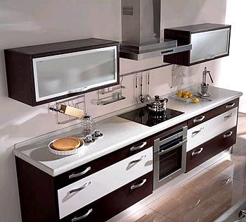 Combinamos materiales y colores puertas vidriadas en for Muebles de cocina manolo