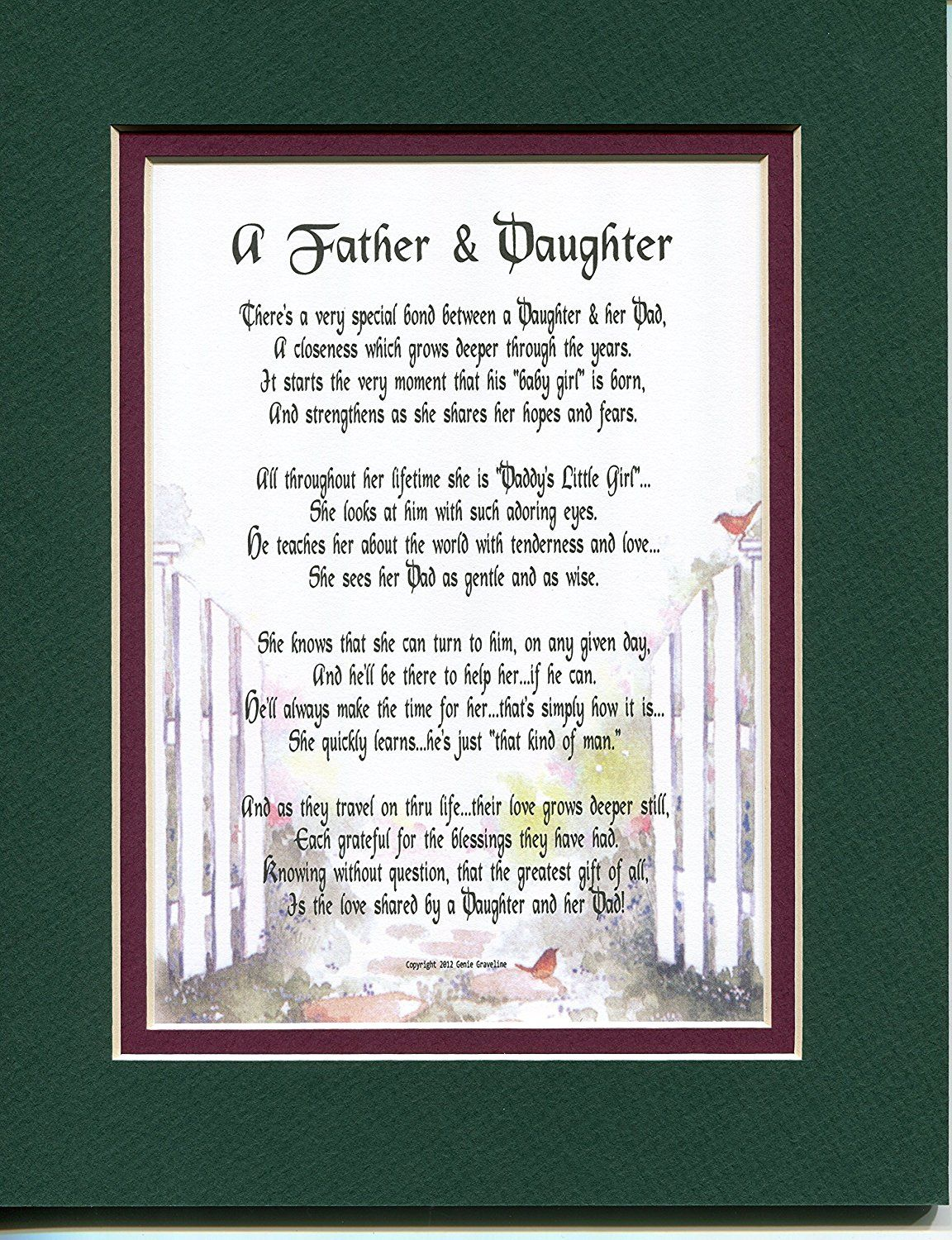 Amazon A Fathers Day Gift Birthday Present Poem For Father And Or Daughter 21 Home Kitchen