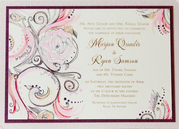 wedding invitations InsideWeddings Svadobné oznámenia - formal invitation style