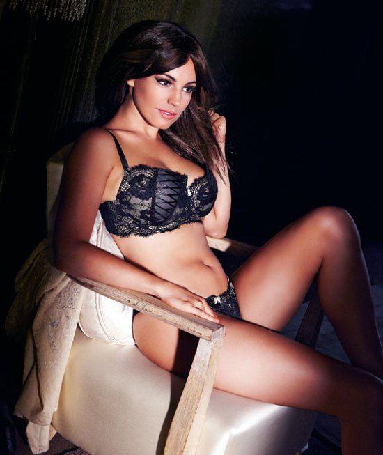 Kelly brook black lingerie