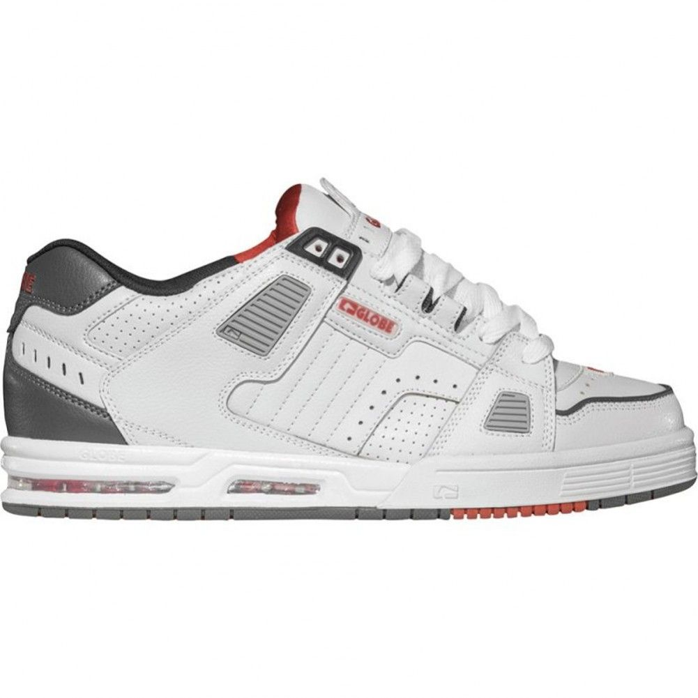 Globe Sabre Shoes - White / Grey / Red | Free UK Delivery. Skate ...