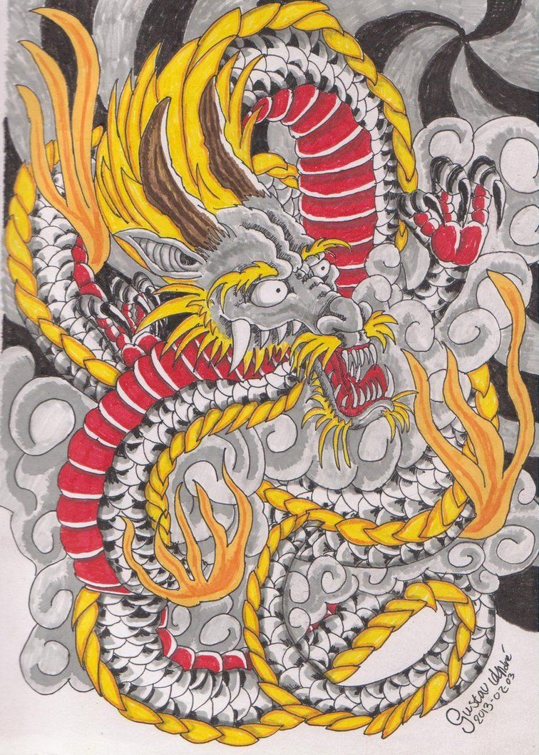Color in japanese art - Japanese Dragon By Nicoraven On Deviantart