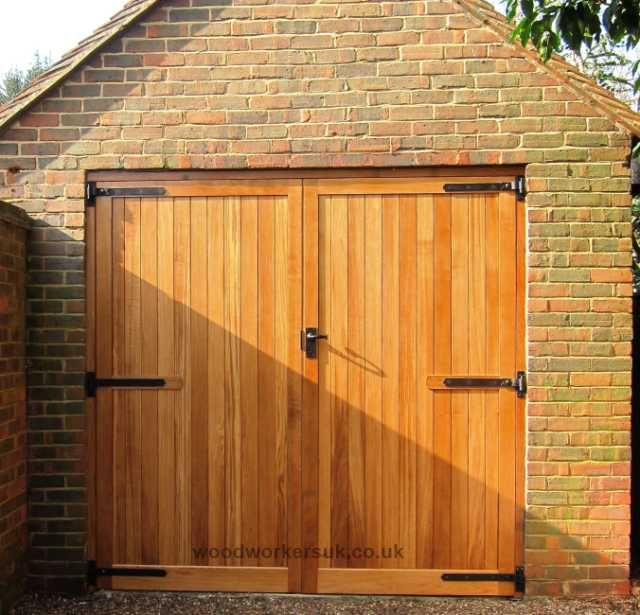 Doors best brown square modern wood wood garage doors for Cedar park overhead garage doors