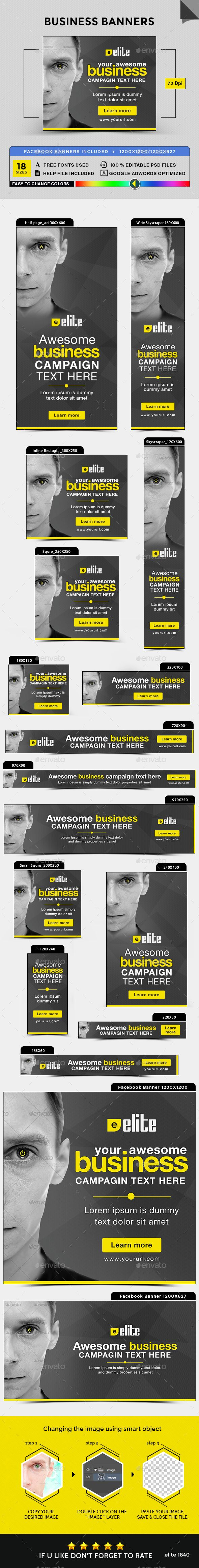 Business Banners — Photoshop PSD #template #multi purpose ...