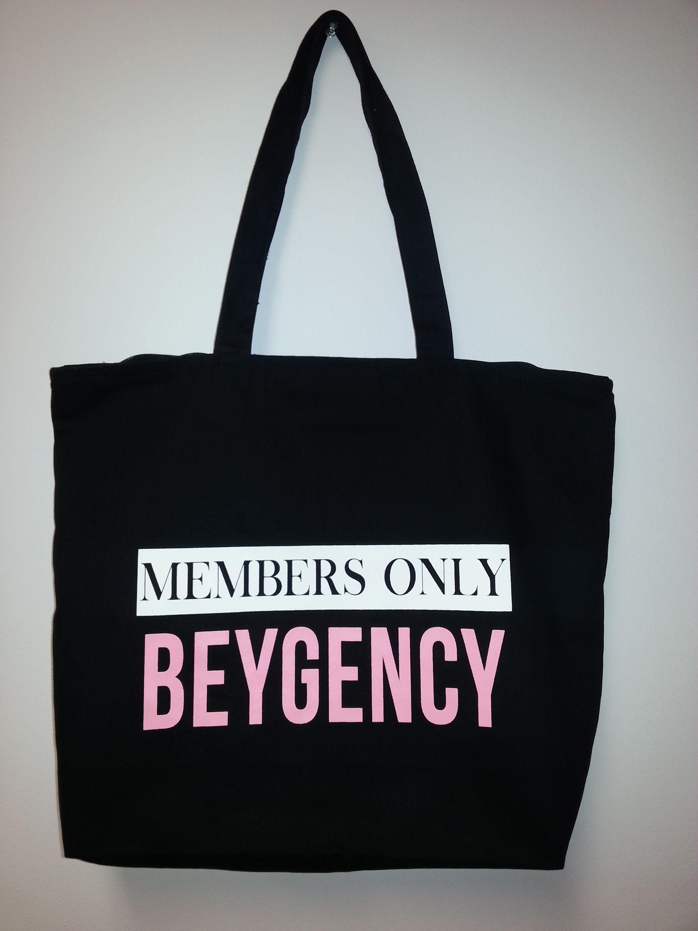 Get your exclusive MEMBERS ONLY BEYGENCY bag! www.bossydesigns.com