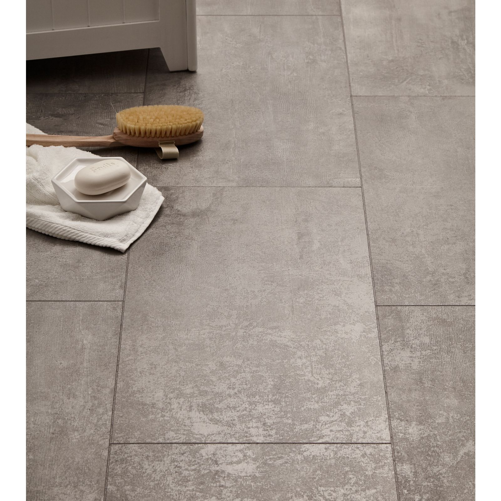 Concrete Tile Effect Laminate Flooring