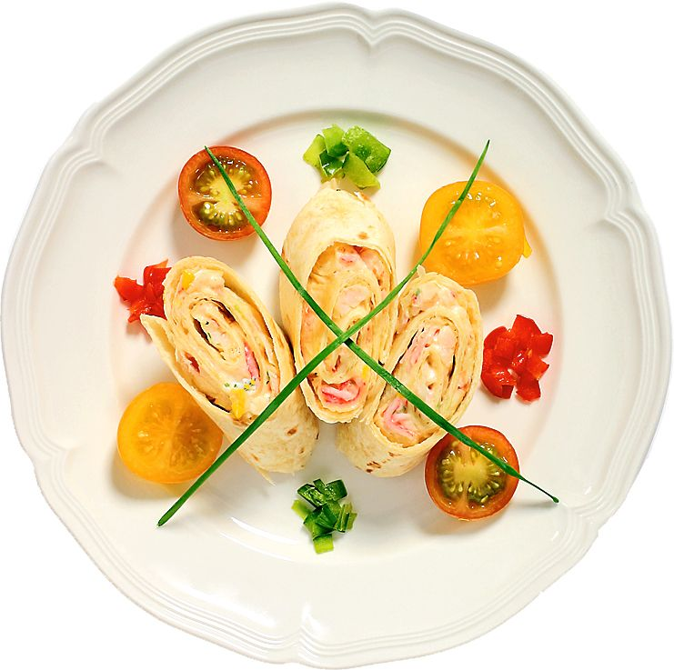 Krabbfyllda tortillas passar bra till festen likväl som till picknick korgen eller ta-med lunchen!