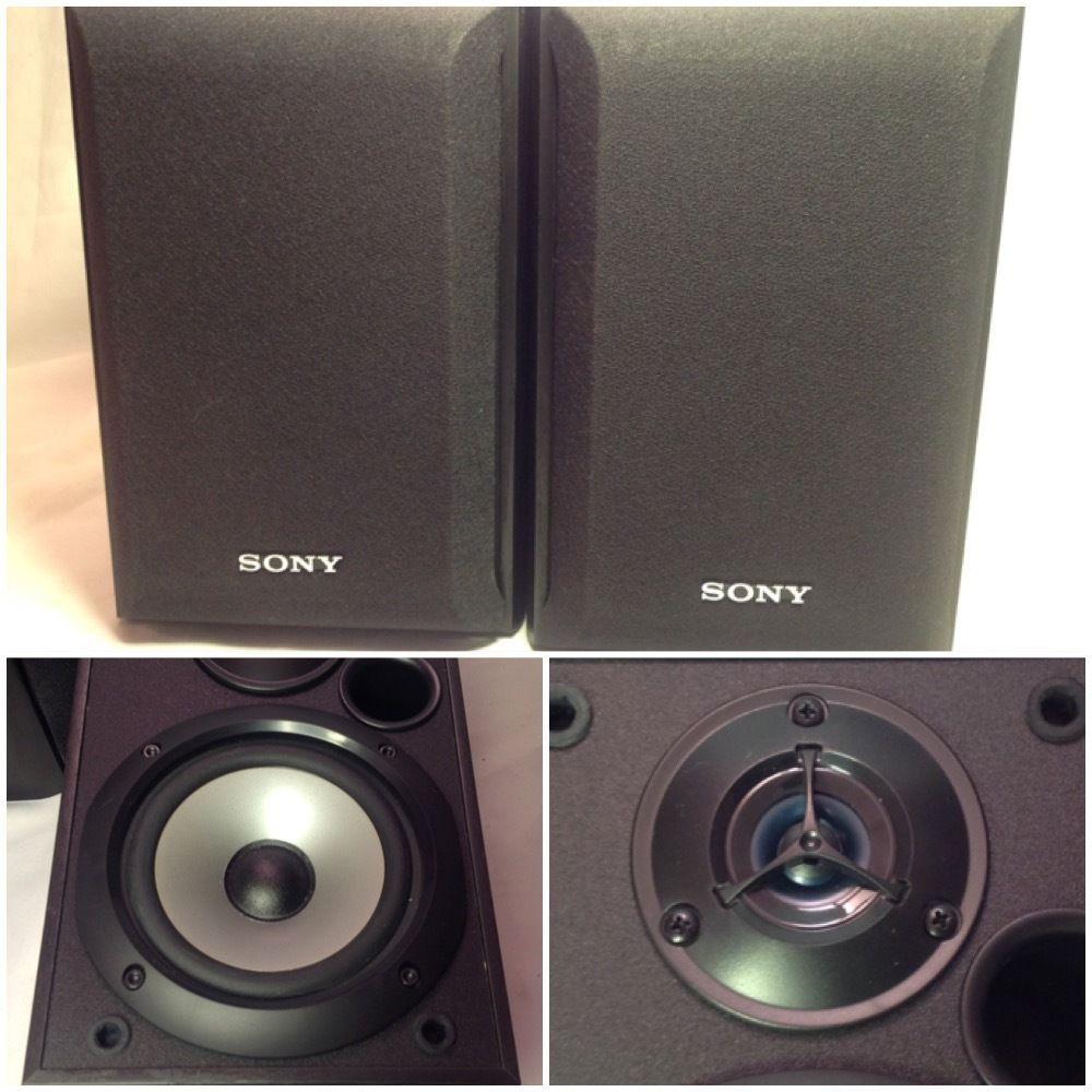 Sony SS B1000 5 1 4 Inch Bookshelf Speakers 120 Watt Pair