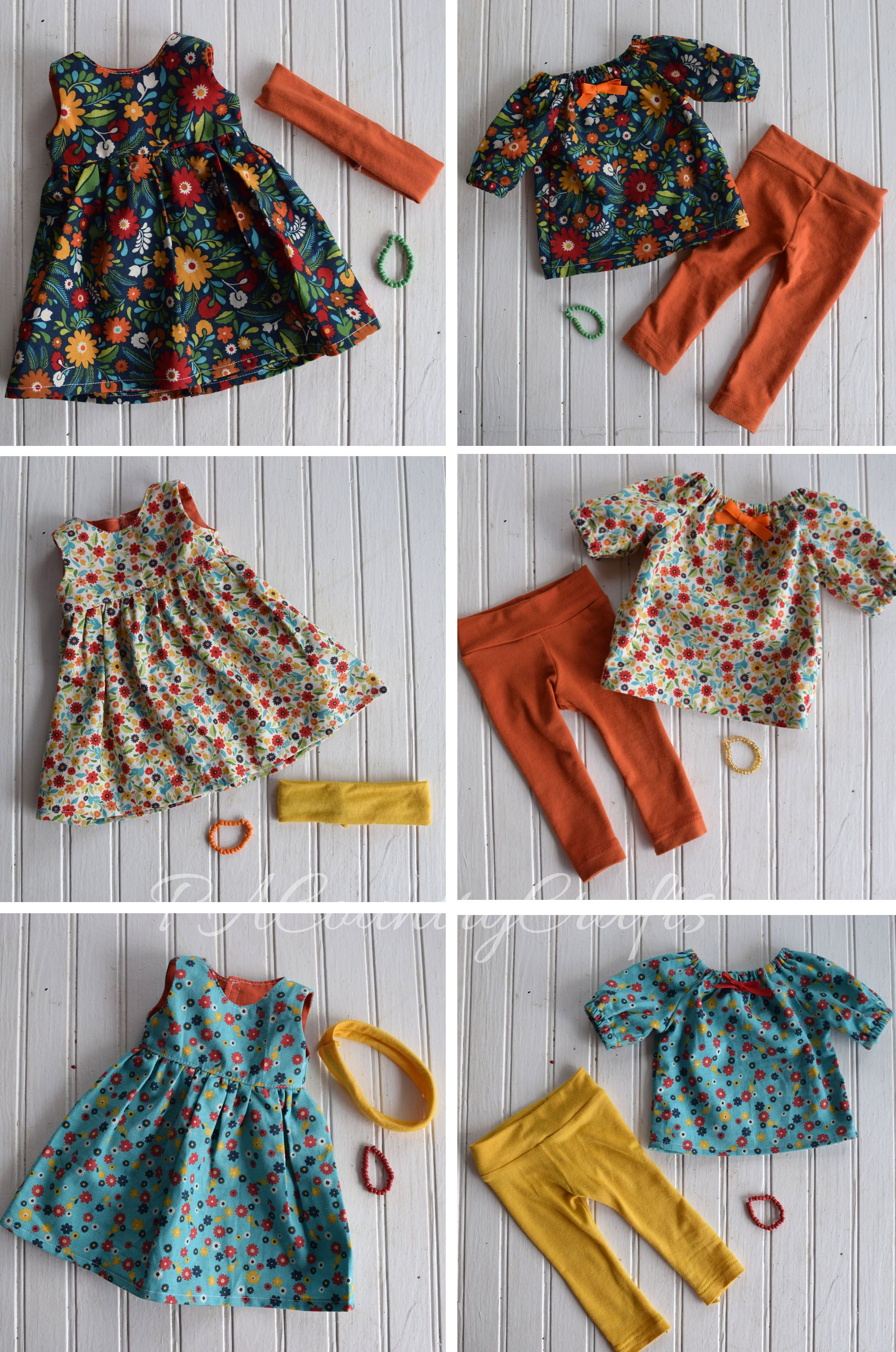 Doll Clothes Sewn by a 12yo — PACountryCrafts #dollclothes