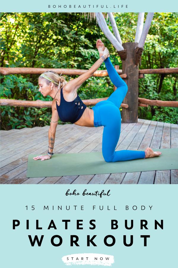 Pilates 15 Min Full Body Burn - Boho Beautiful