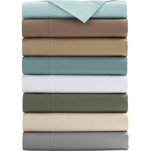Select Edition 500 Thread Count Wrinkle Free Sheet Set With Platinum Touch Finish Wal Mart Brown Clay Canopy Sheets