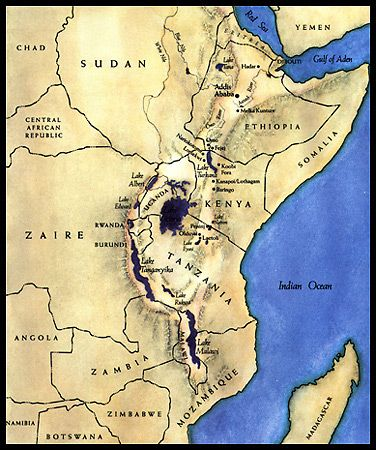 East Africa. Great Rift Valley. Hadar, where Lucy and her ... on