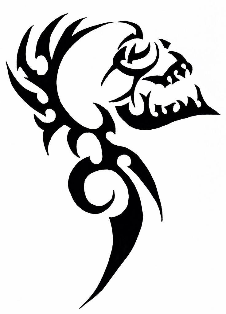 Click For More Tattoos Tribal Skull Skulls Drawing Tribal Drawings