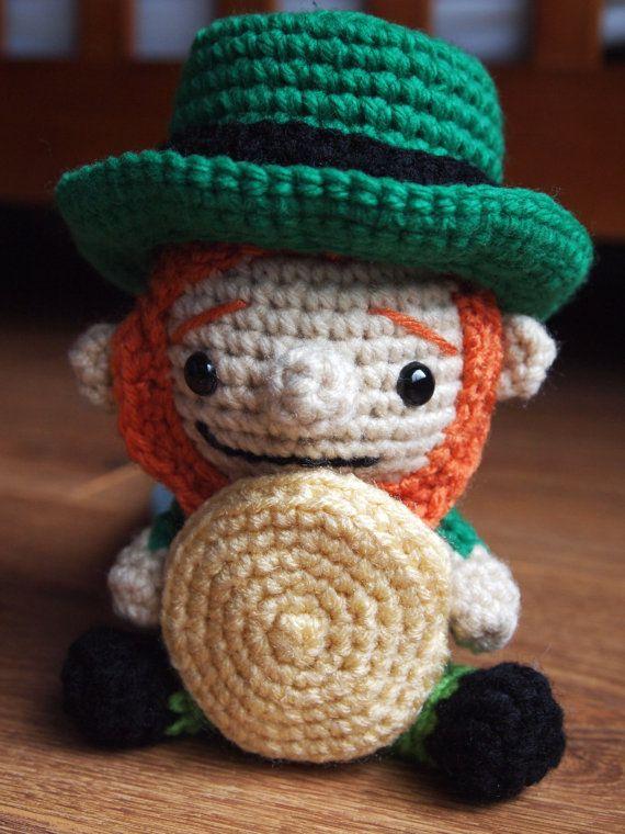 Amigurumi Littlest Leprechaun Crochet Pattern- Cute for St Patricks ... b57da57b194