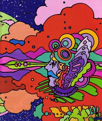 PETER MAX Land of Blue