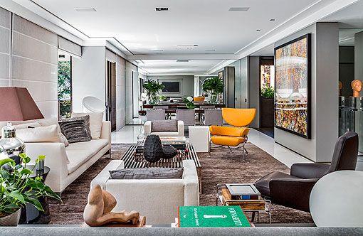 Decorar un salón con varios ambientes: estar, comedor y zona de TV ...