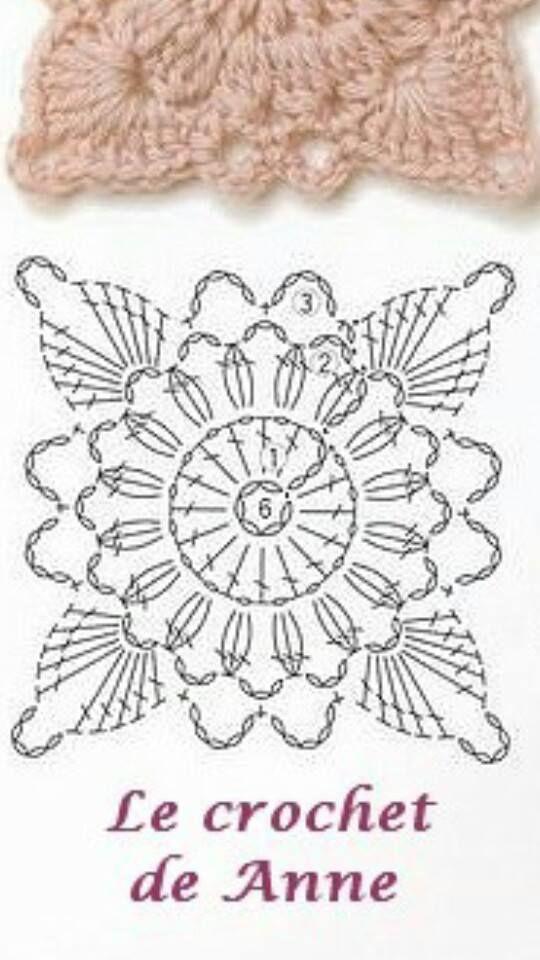 poncho grijs bloem patroon | tığ | Pinterest