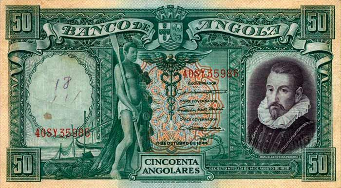 50 Angolares (1944) Angola (Angola) Angola Mironovskaya  Family
