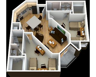 2 Bedroom 2 Bathroom Grandmarc At The Corner Floor Plans Flooring Apartments For Rent
