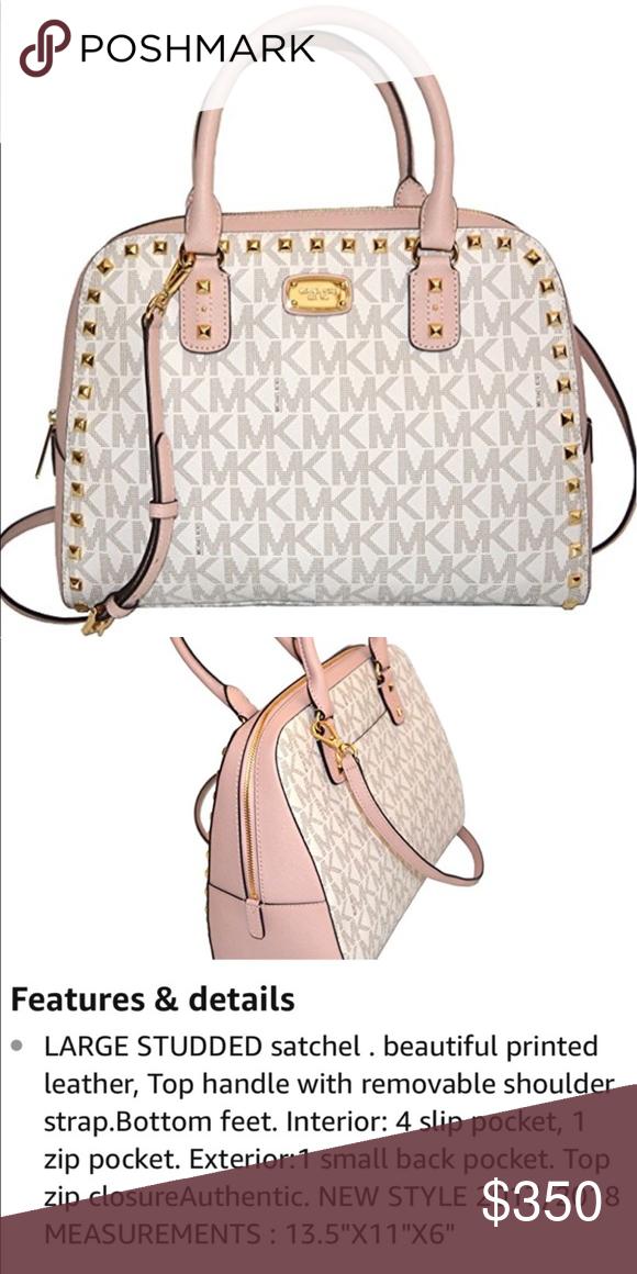 1755f1cfc7a9 Spotted while shopping on Poshmark  ❁ Michael Kors LARGE Vanilla Ballet  Satchel!  poshmark  fashion  shopping  style  Michael Kors  Handbags