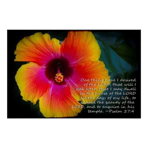 Psalm 274 Hibiscus On Black Poster Zazzlecom New Items