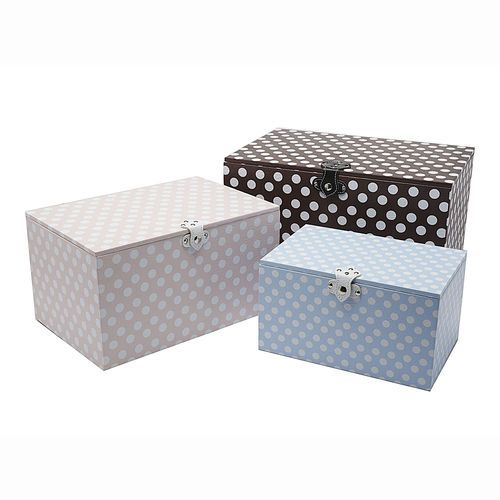 Polka Dot Trunk, Blue, Small in color .