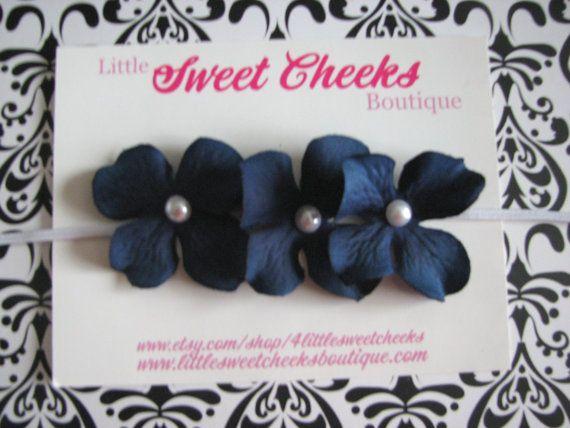 baby headband, baby girl headband, newborn headband, blue headband, hydrangea headband , hawaiian headband, flower headband