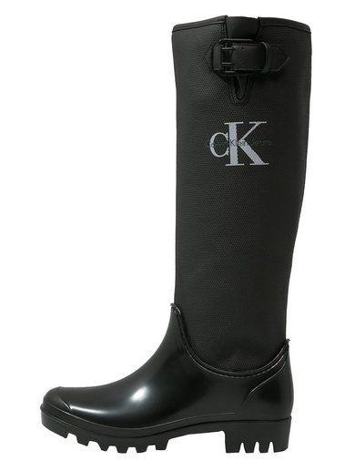 Calvin Klein Jeans Portia Kalosze Black With Images Kalosze Kozaki Buty Mysliwskie